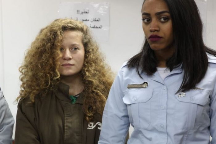 Ahed Tamimi in Court (Photo Hillel Meir)