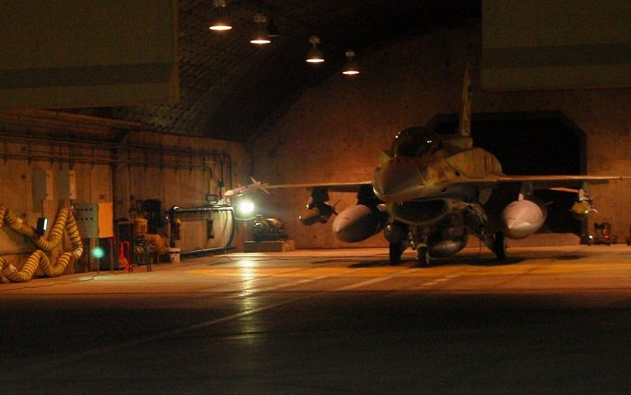 Israeli F-16 preparing to bomb the Syrian nuclear facility