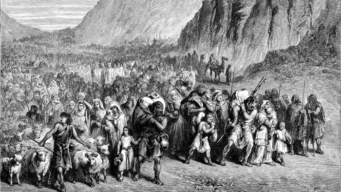 Biblical image - the Israelites on the first march of the exodus